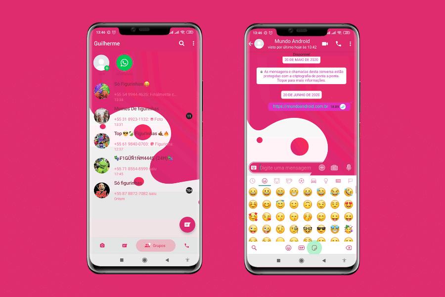 Rosa Theme Tema Para Yo Fm E Gbwhatsapp Mundo Android